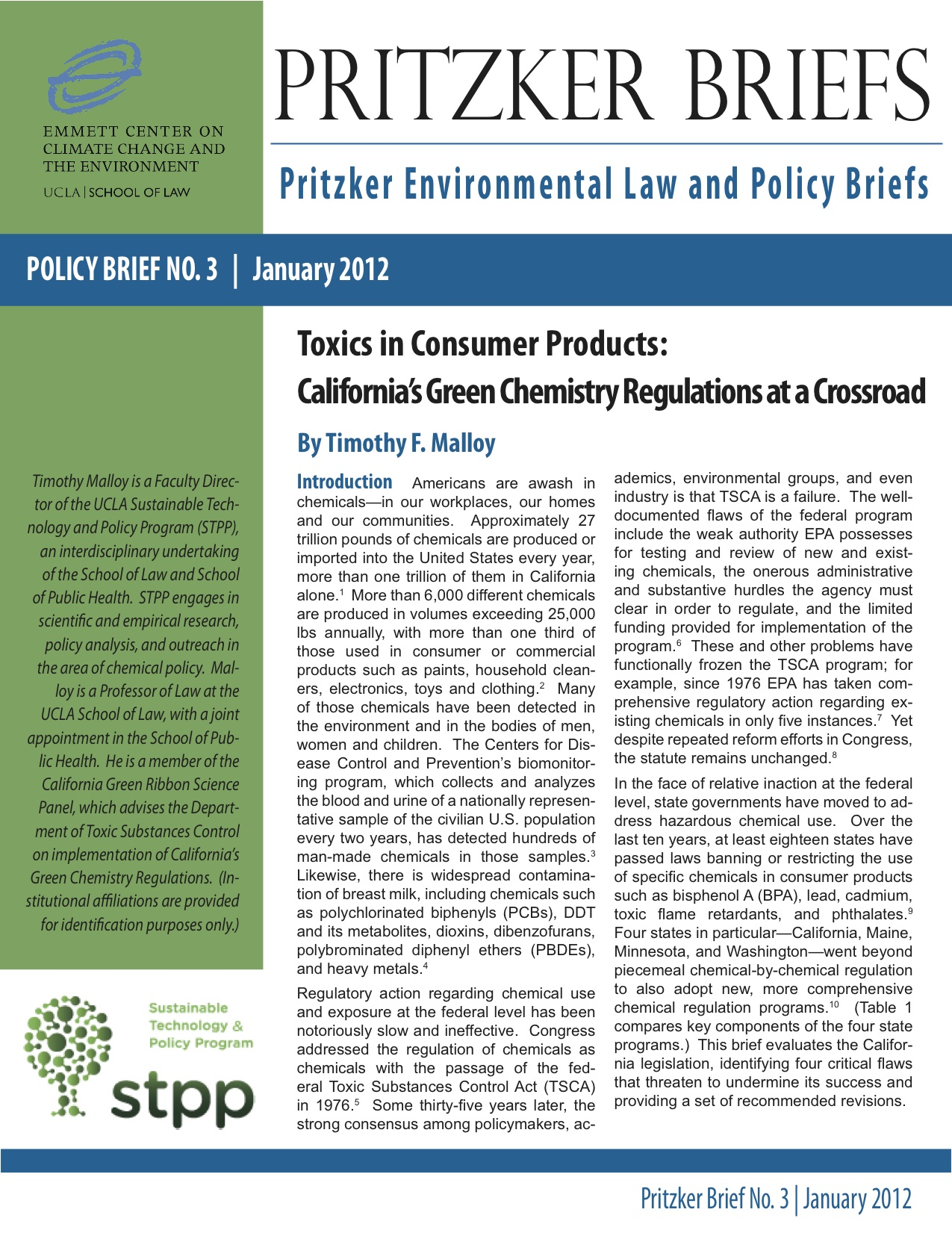 Pritzker Cover - Toxics in Consumer Products