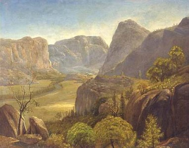 Painting of Hetch Hetchy Valley by Albert Bierstadt