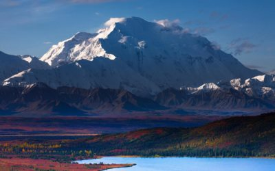 Denali, the highest peak in North America, and centerpiece of the eponymous National Park.