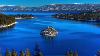 Emerald Bay, in south Lake Tahoe