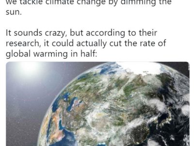 CNN solar geoengineering tweet
