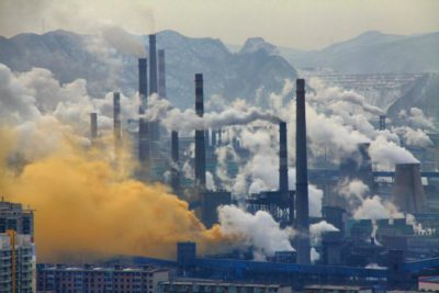 Steel production in Benxi, China